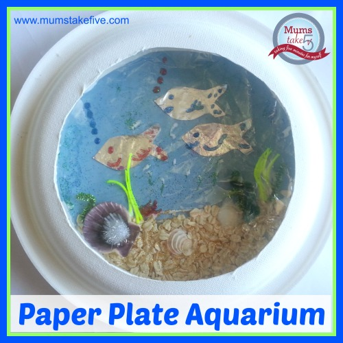 Ocean/Water Theme Craft Paper Plate Aquarium