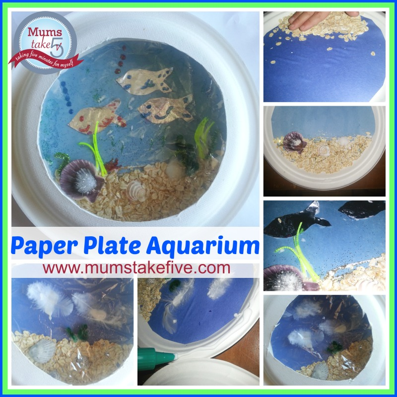 Aquarium Kids Craft paper plate easy kids craft