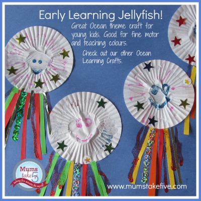 Ocean Theme Kids Craft Jellyfish. Early Learning