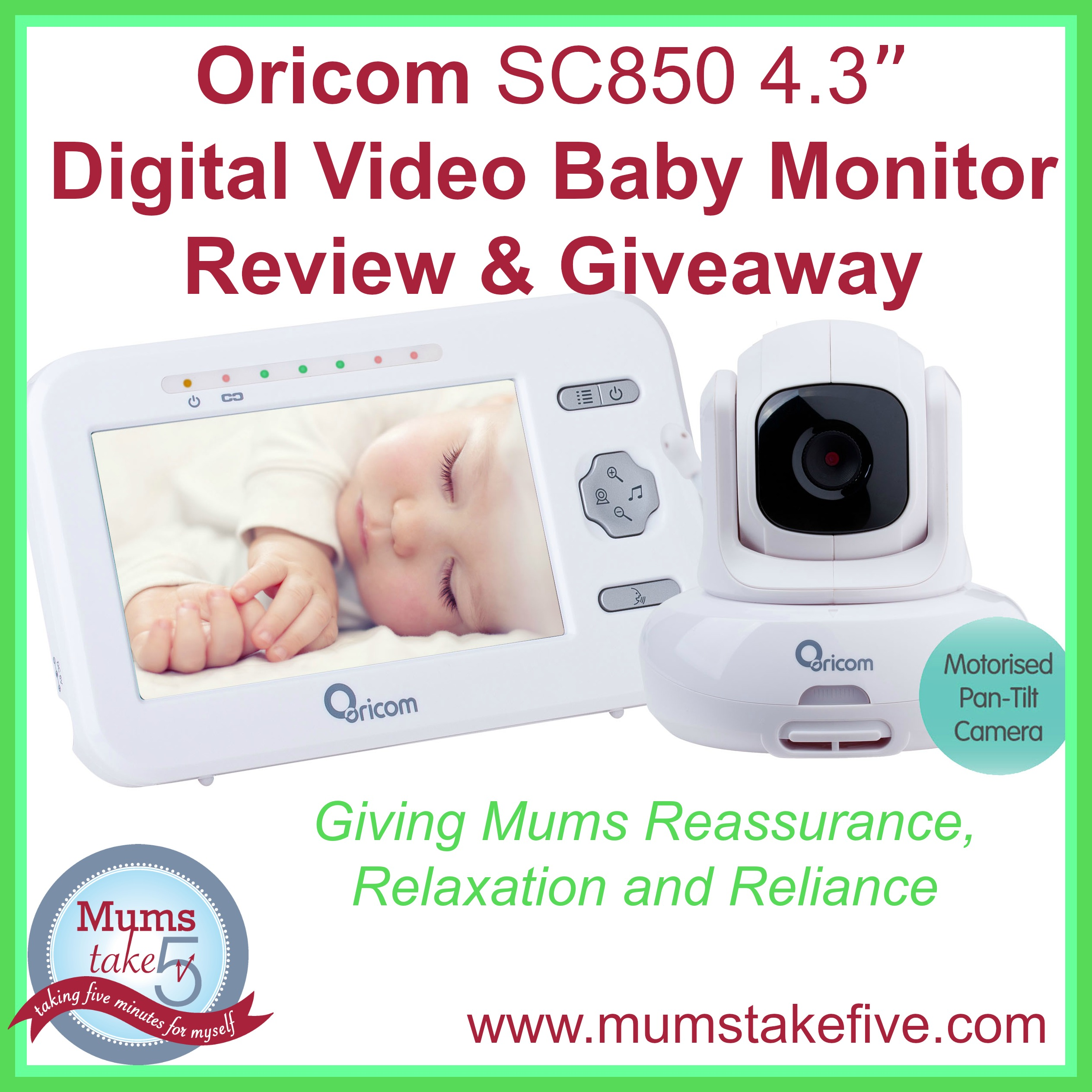 Oricom Baby Monitor Review and GIveaway