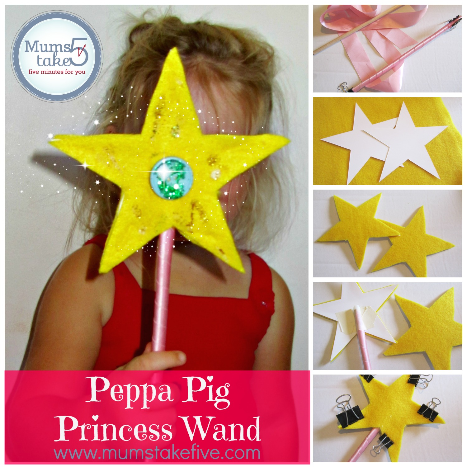 peppa pig princess wand