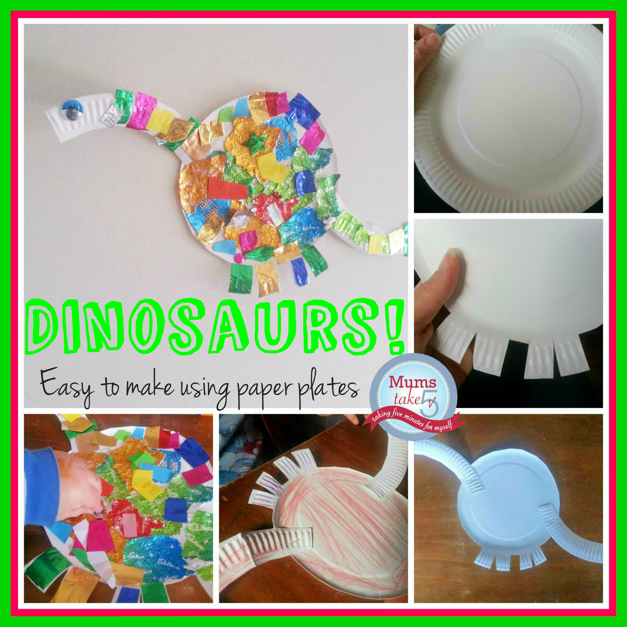 Dinosaurs kids craft easy kids craft paper plates