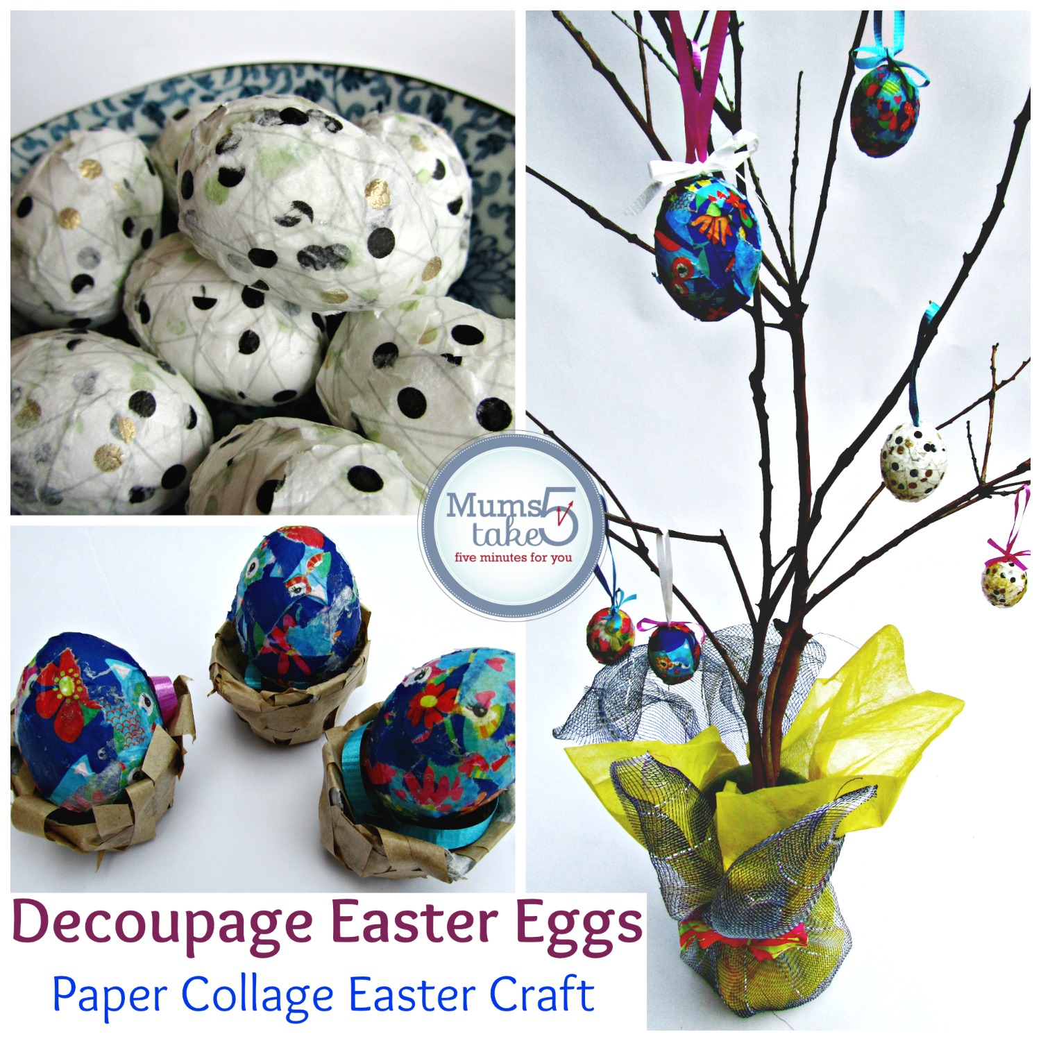 Easter Decoupage Egg Craft