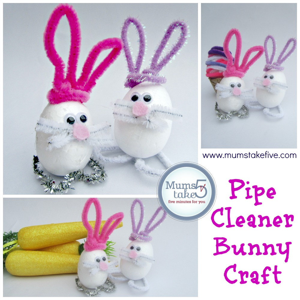 Easter Bunny Pipe Cleaner Craft