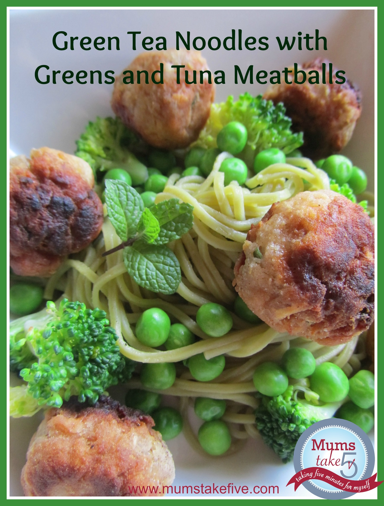 green soba noodles and tuna easy kids meal