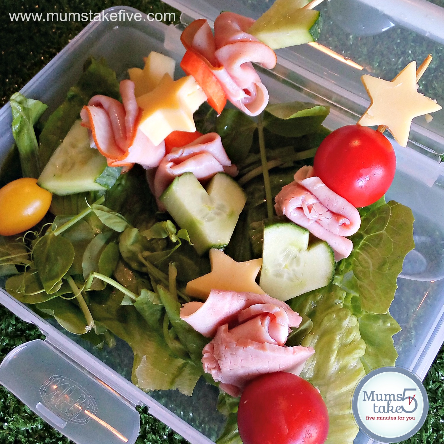 Lunchbox  Easy Ham and Cheese Idea