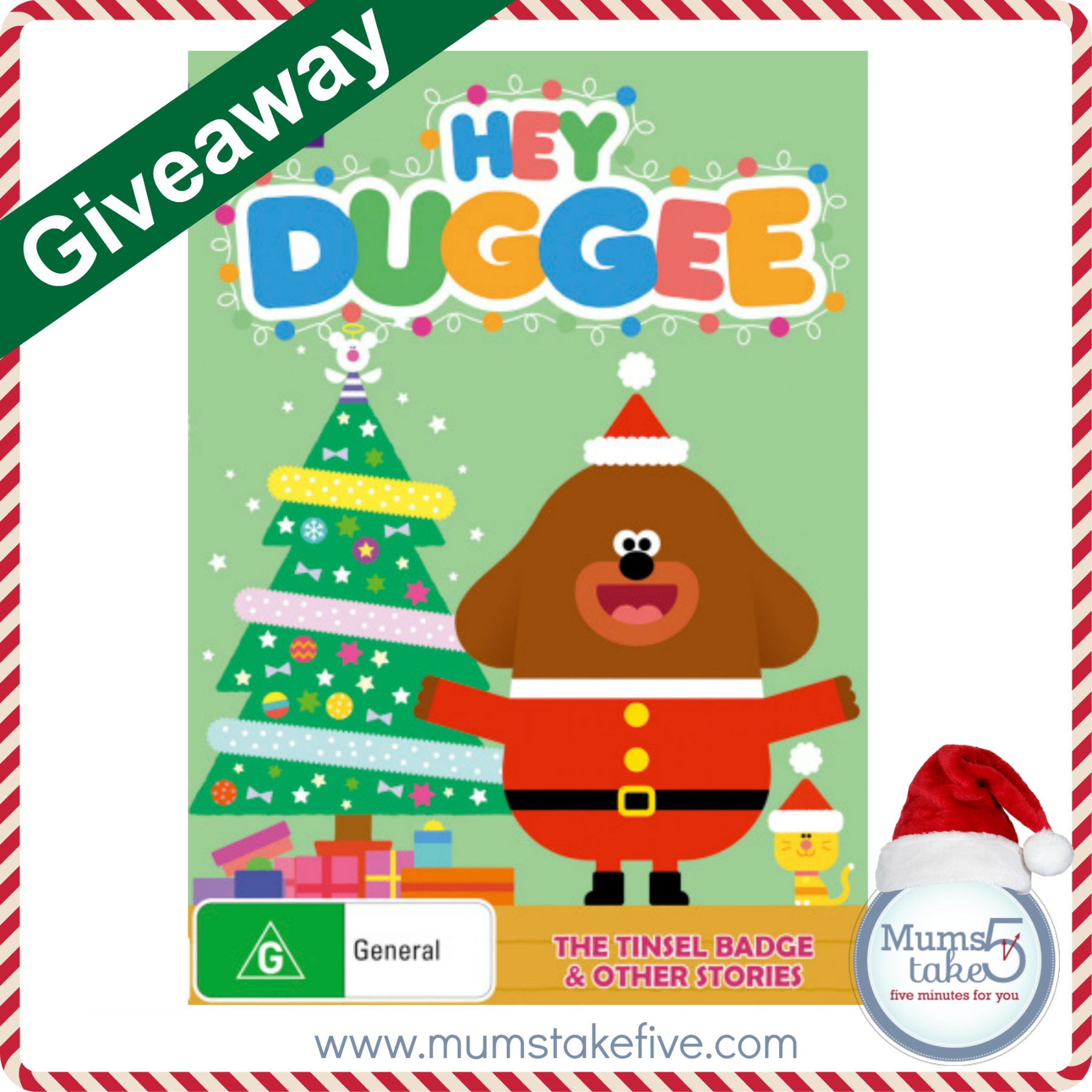 Hey Duggee The Tinsel Badge Christmas DVD Giveaway
