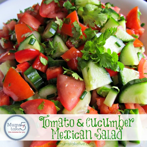 Tomato and Cucumber Mexican Salad