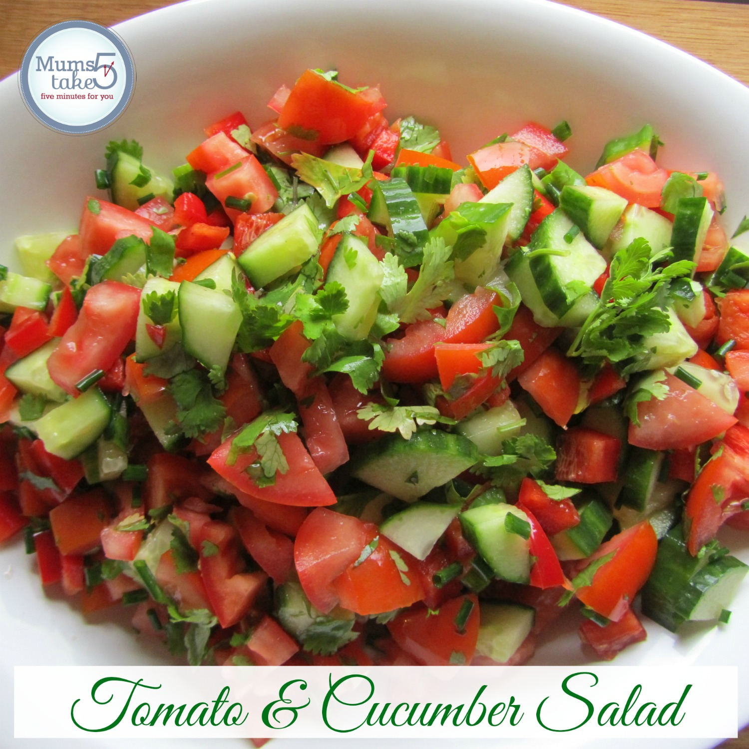 Mexican Tomato and Cucumber Salad