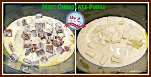 Mint choc fudge slow cooker recipe