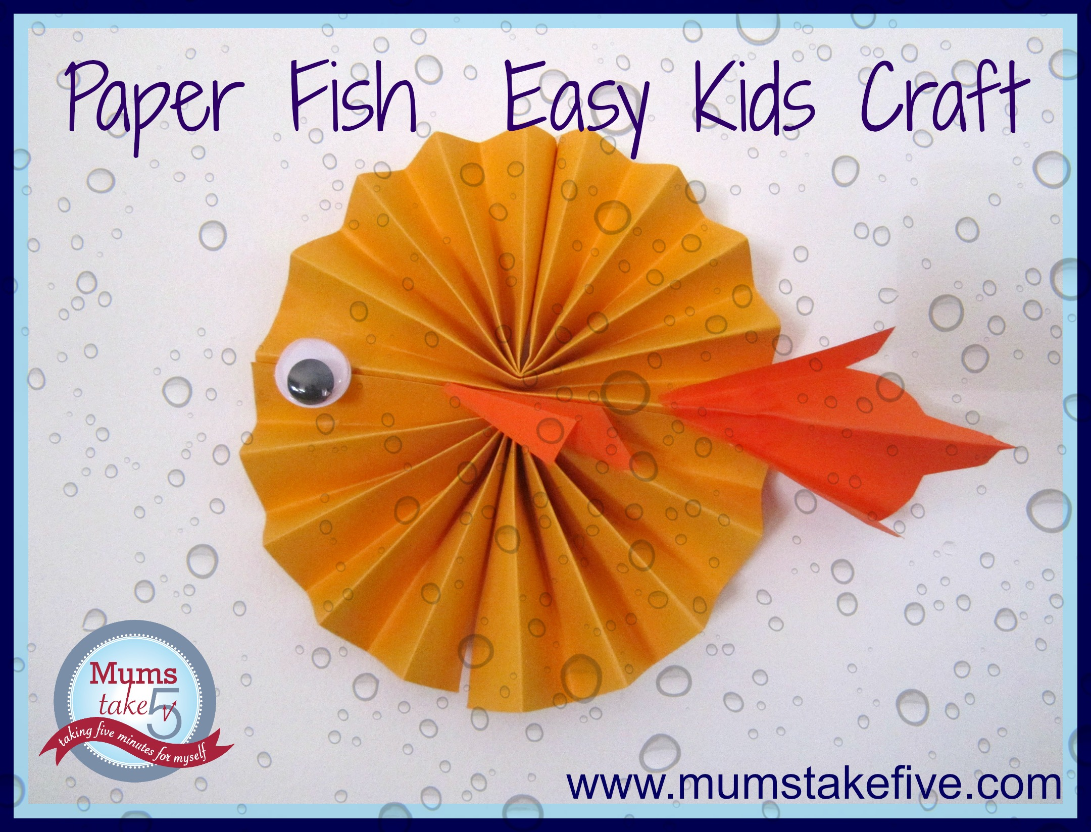 Paper Fish kids Craft