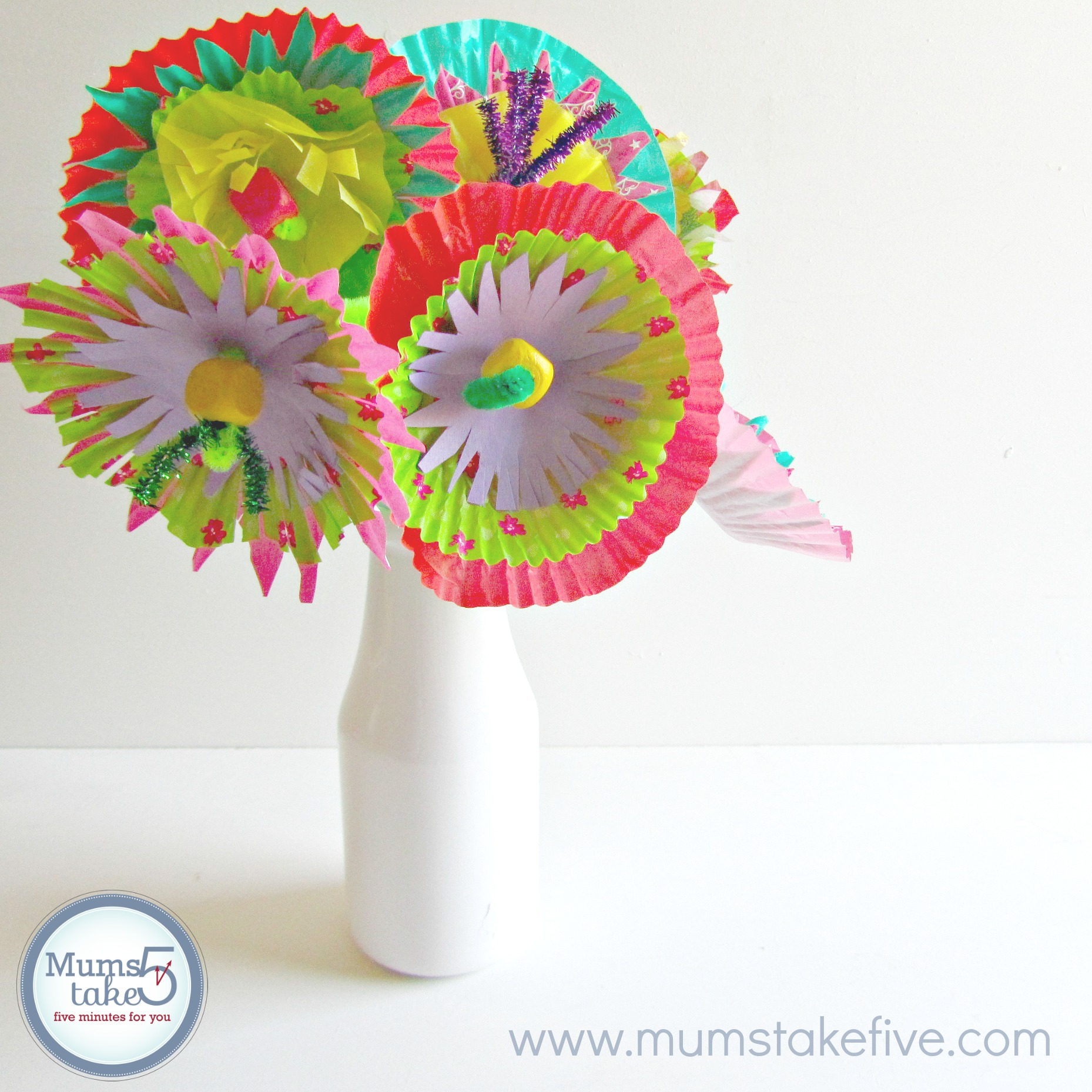 Paper Flower Kids Craft