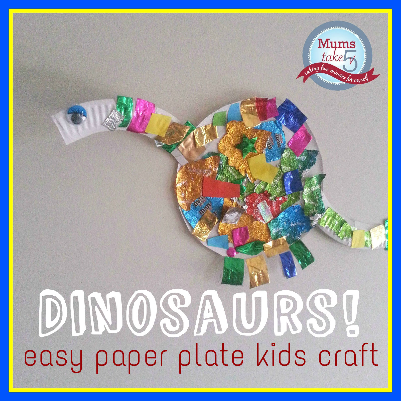 make your own dinosaurs paper plate craft