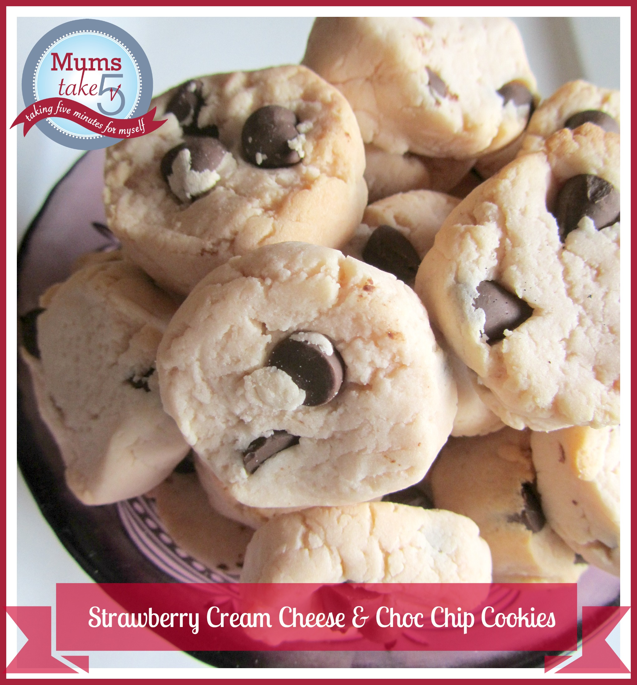 Philadelphia Cream Cheese Choc Chip Cookies