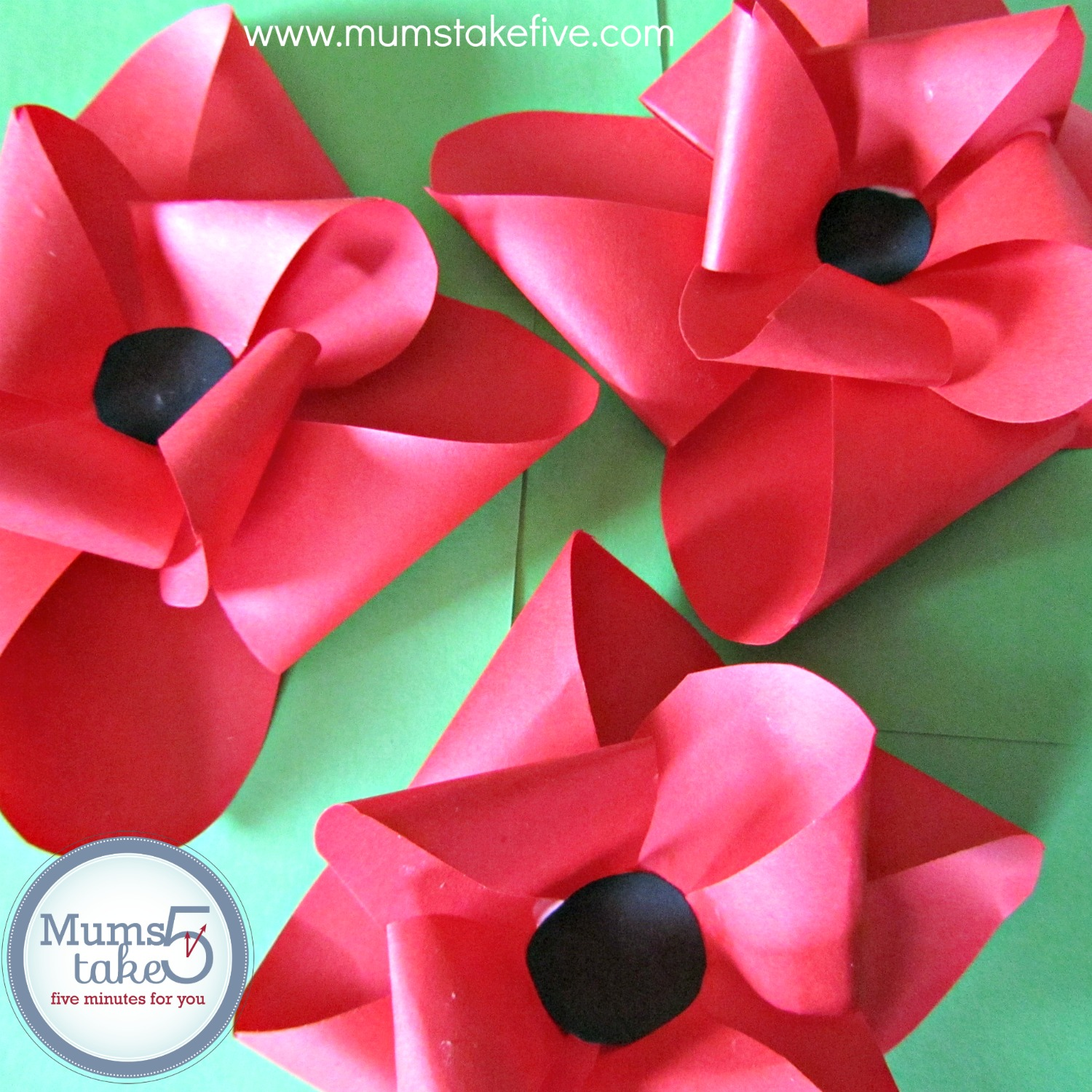 ANZAC Remembrance Day Poppies Craft
