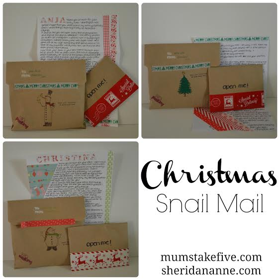 christmas snail mail creativity sheridan anne
