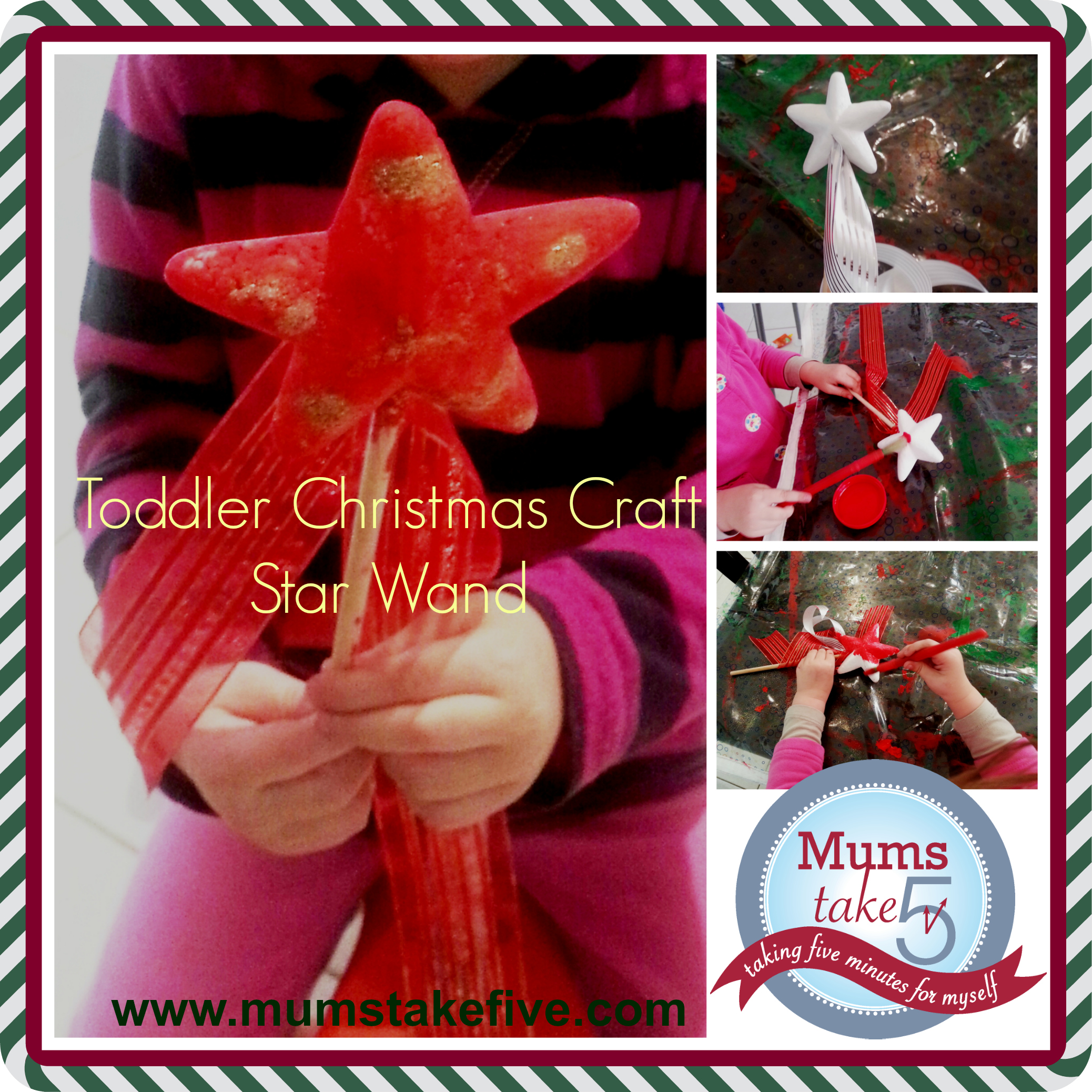 Toddler Christmas Craft Wands