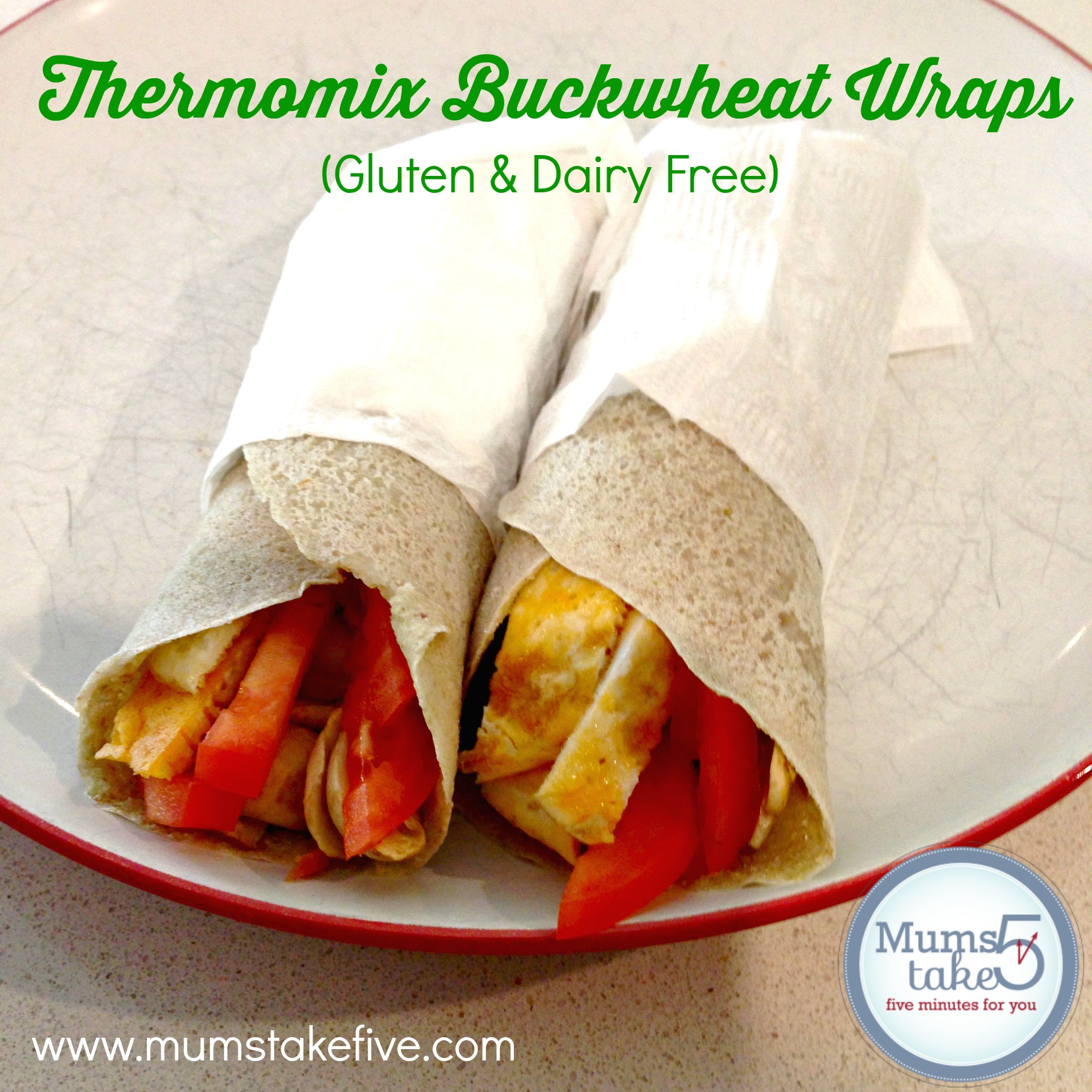 Thermomix Dairy and Gluten Free Wraps