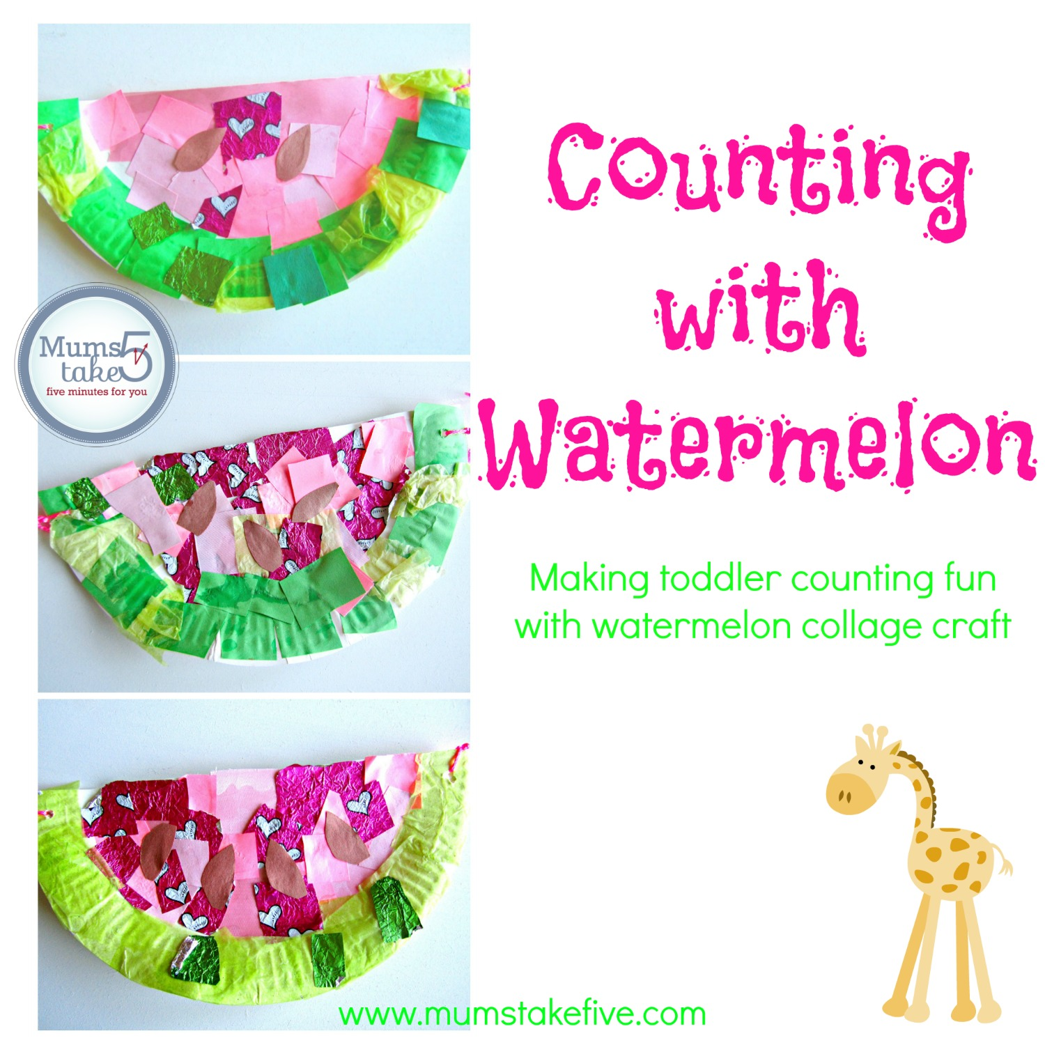 Early Learning Counting Craft. Paper Plate Watermelons