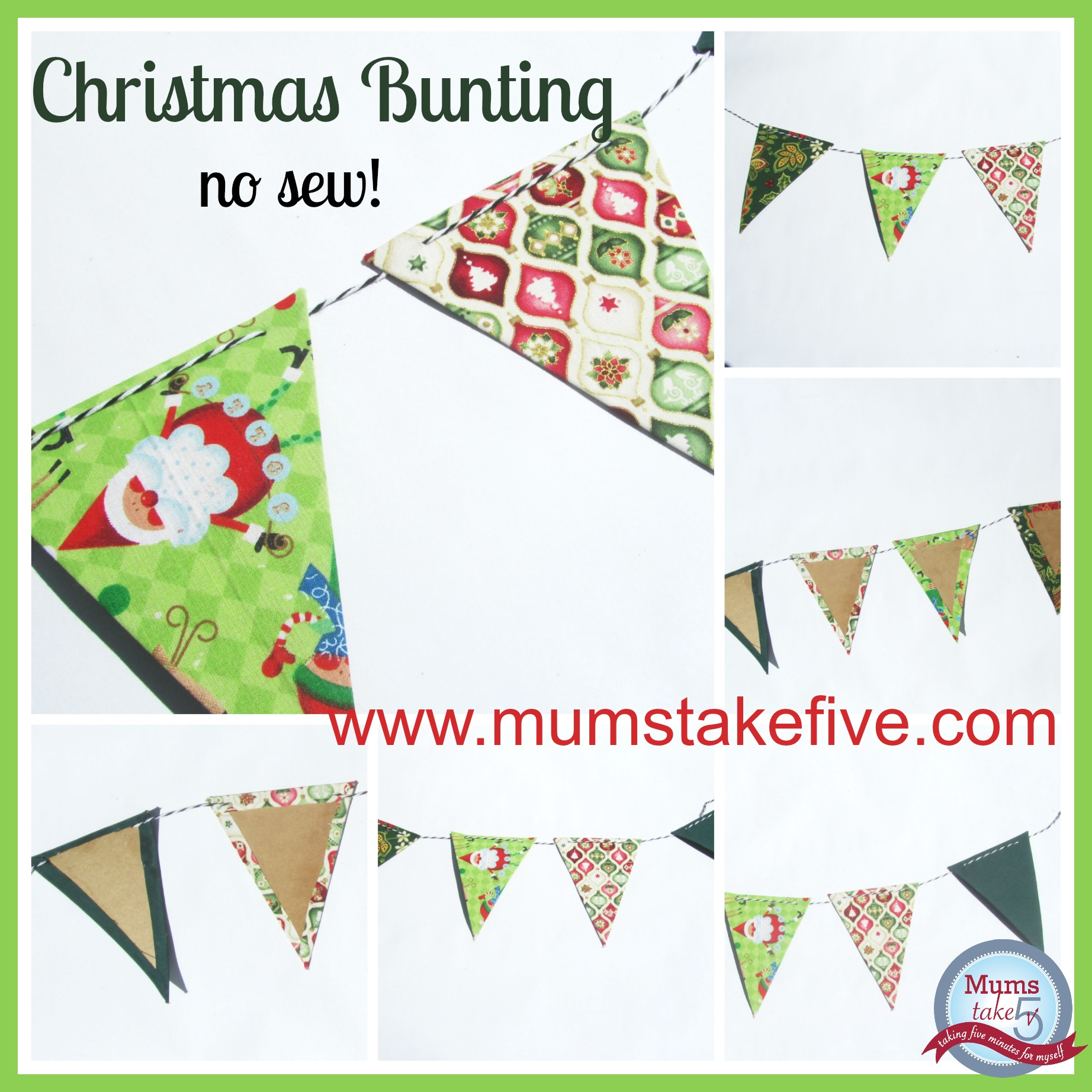 Christmas No Sew Bunting