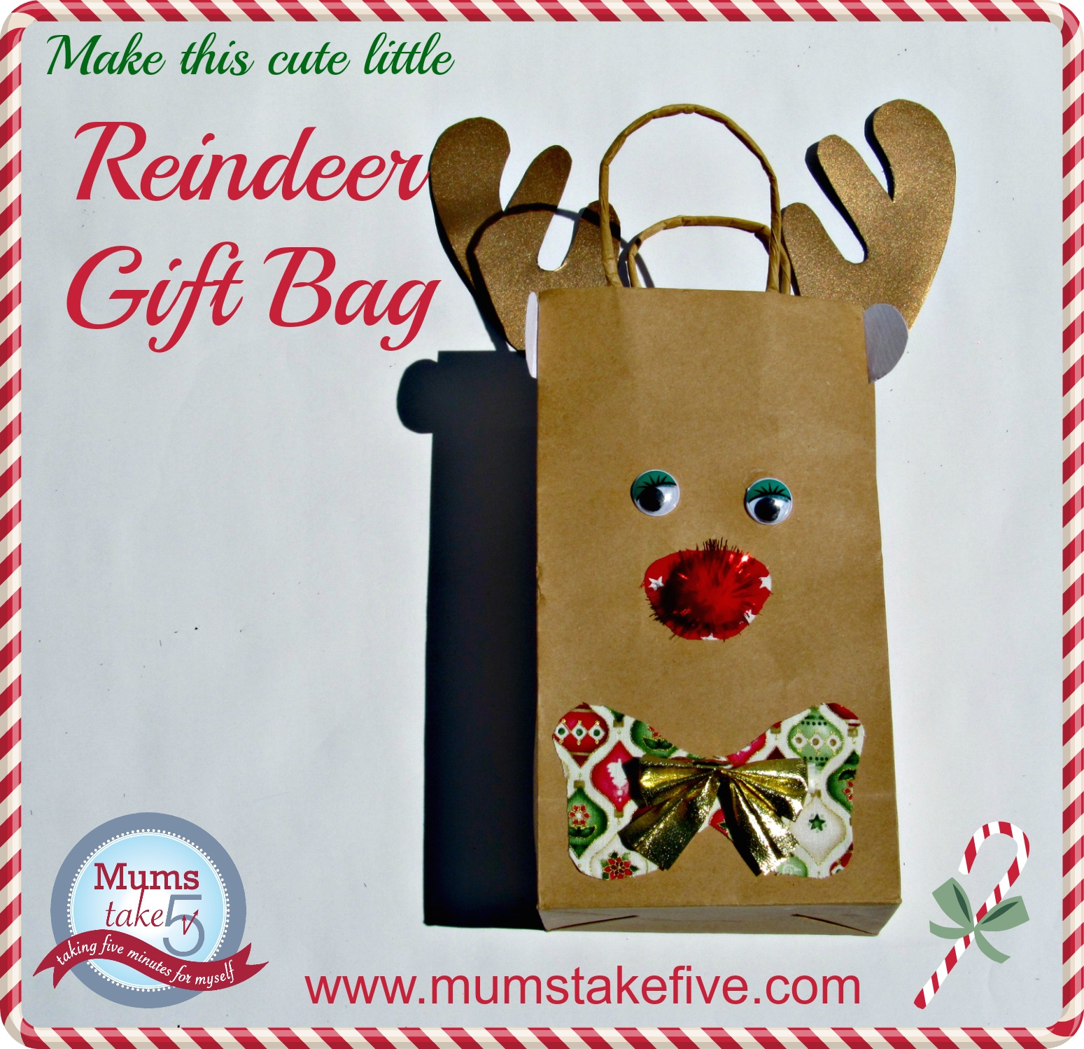 Christmas Reindeer Gift Bag