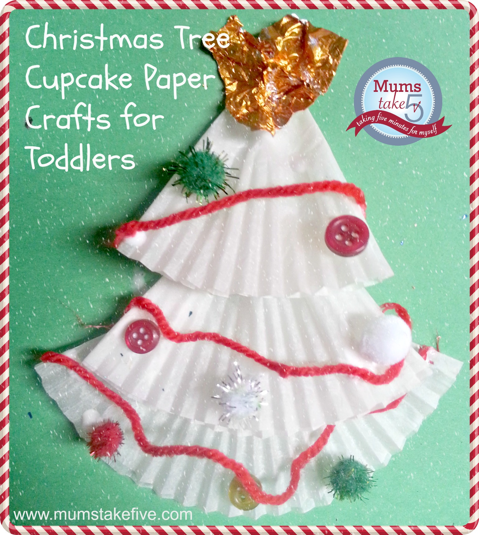 christmas cupcake liner crafts angel and christmas tree