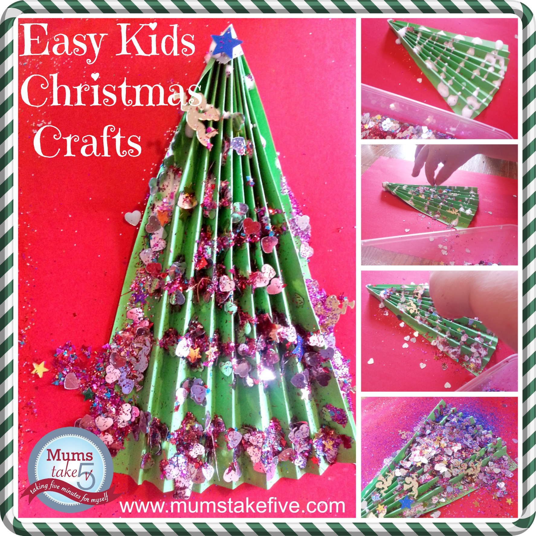 Christmas Tree Crafts for Kids  4 Easy preschool crafts